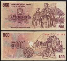 TSCHECHOSLOWAKEI - CZECHOSLOVAKIA 500 Korun 1973 Pick 93 VF (3)  (23224 - Czechoslovakia