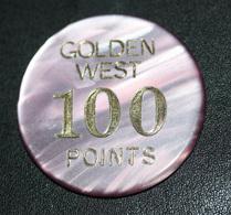 """Plaque Jeton De Fête Foraine """"Golden West 100 Points"""" Manège Enfantin - Token - Casino"""