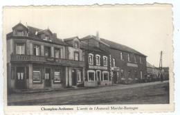 CHAMPLON-ARDENNES : L'arrêt De L'Autorail Marche-Bastogne. - Tenneville