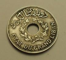 1925 - Liban - Lebanon - 1 PIASTRE - Etat Du Grand Liban - KM 3 - Libanon