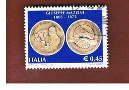 ITALIA REPUBBLICA  -   2005  G. MAZZINI                    -   USATO  ° - 6. 1946-.. Repubblica