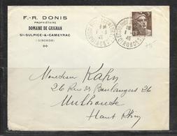 LOT 1812173 - N° 715 SUR LETTRE DE SAINT SULPICE & CAMEYRAC DU 01/03/46 POUR MULHOUSE - DOMAINE DE GRIGNAN - Poststempel (Briefe)