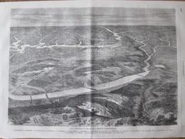 Gravure 1865 Guerre War Civil   VIRGINIA ETATS UNIS   Gordonville  Richmond  Manchester   Lynchbourg  Chatswork  Petersb - Ohne Zuordnung