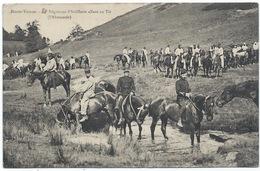 Haute-Vienne - 34ème (ou 21ème) Régiment D'artillerie Allant Au Tir - Halte à L'abreuvoir Pour Les Chevaux - Regiments