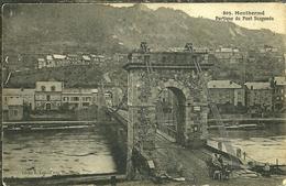 08 Ardennes MONTHERME Portique Du Pont Suspendu Attelage De Chien Au Pied Du Pont - Montherme