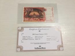 BILLET FRANÇAIS Ancien 200 FRANCS GUSTAVE EIFFEL  1996 Avec Certificat - 1992-2000 Last Series