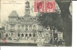 SAÏGON (Hô Chi Minh Ville). L'hôtel De Ville Un Jour D'élections. CPA 1922. Voir Description - Viêt-Nam