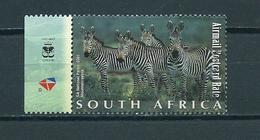 2001 South-Africa Animals,dieren,tiere,zebra Used/gebruikt/oblitere - Oblitérés