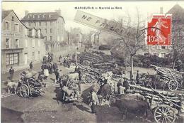 Lozere : Marvejols, Reproduction Sur Papier Photo, Marché Au Bois... - Marvejols