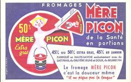 Buvard Mère Picon Fromages Mère Picon De La Santé En Portion - Produits Laitiers