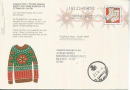 CANADA 2018 ENTERO POSTAL STATIONERY CHRISTMAS ROPA DE INVIERNO WINTER NOEL TEXTIL - Textiles