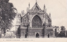 EXETER CATHEDRAL. WEST FRONT . LL 1 - Exeter
