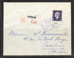 LOT 1812178 - N° 701 SUR LETTRE RECOMMANDEE DE PARIS DU 24/01/52 POUR SARREBOURG - Poststempel (Briefe)