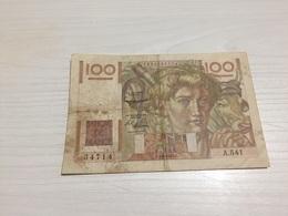 BILLET FRANÇAIS Ancien 100 FRANCS JEUNE PAYSAN 1953 - 1871-1952 Anciens Francs Circulés Au XXème