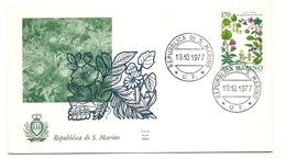 1977 - San Marino 996 Erboristeria - FDC - Salute