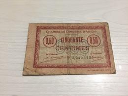 BILLET FRANÇAIS Ancien 0,50 Centimes D'amiens 1920 - France