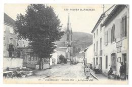 Cpa: 88 CORNIMONT (ar. Epinal) Grande Rue (La Poste, Animée) N° 19 - Cornimont