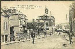 08 Ardennes CHATEAU REGNAULT Rue De La Gare Prise Du Pont Animée - France