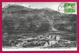 CPA Suisse - Viège - Quartier De La Gare Et Le Vieux Pont - VS Valais