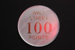 """Plaque Jeton De Fête Foraine 'Wall Street - 100 Points"""" Funfair Token - Professionals/Firms"""
