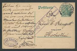 Postwaardestuk 5 Pf Stempel St Vith 14.10.15 - Guerre 14-18