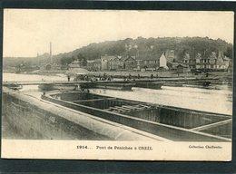 CPA - 1914... Pont De Péniches à CREIL, Animé - Guerre 1914-18