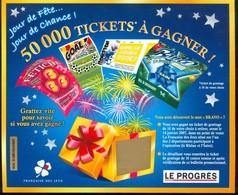 Grattage FDJ - FRANCAISE DES JEUX - Jour De Fête Jour De Chance LE PROGRES - Billets De Loterie