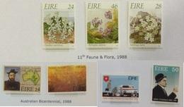 IRLANDE N° 646 à 647 + 651 à 652 + 657 à 659 Neufs Sans Charnière - 1988 Fleur - Neufs