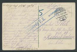 Feldpostkarte Stempel Malmedy  17.12.15 - Guerre 14-18