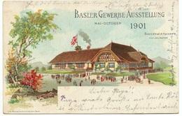Litho BASEL Gewerbe-Ausstellung 1901 Gel. 1901 N. Esslingen - BS Bâle-Ville