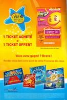FRANCAISE DES JEUX - VSD Hors Série été 2007 - 41701 Orange Non Gratté + Grille Loto - Lottery Tickets