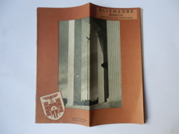 MUNICH Germani Nazist Adolf Hitler Tour Guide Turistic Brochure Nazism - 1939-45