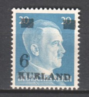 Germany Kurland 1945 Mi 3 MNH (1) - Occupation 1938-45