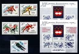 E16188)Olympia 76, UDSSR 4444/8** + Bl 109** + 110** - Winter 1976: Innsbruck