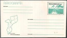 Mozambico/Mozambique: Intero, Stationery, Entier, Isola Inhaca, île Inhaca, Island Inhaca, Map, Carte, Mappa - Isole