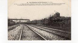 LES CHEMINS DE FER FRANCAIS (P.L.M.) Le M. 71 La Malle Des Indes Machine Coupe-vent Train Rapide Calais-Brindisi - Trains