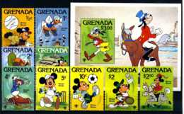 E17599)Disney, Grenada 991/9** + Bl 86** - Disney