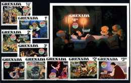 E17630)Disney, Grenada 1066/74** + Bl 92** - Disney