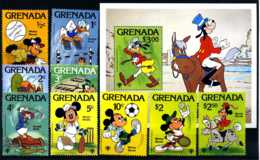 E17677)Disney, Grenada 991/9** + Bl 86** - Disney