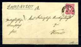 E17778)DR Interessanter Dienstbrief 1884 Mit Inhalt - Allemagne