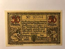 Allemagne Notgeld Werben 50 Pfennig - [ 3] 1918-1933 : République De Weimar