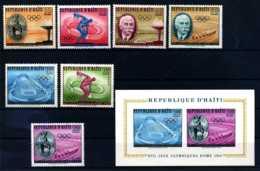 E18466)Olympia 60, Haiti 629/35** + Bl 14** - Sommer 1960: Rom