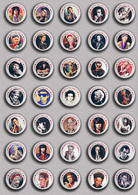 35 X The Rolling Stones Keith Richards Music Fan ART BADGE BUTTON PIN SET 4 (1inch/25mm Diameter) - Music