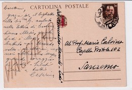 STORIA POSTALE-CARTOLINA POSTALE-REP.SOCIALE_Stemma Littoreo Vg Da Lodi Ill 30-IV-1944-INTEGRA E ORIGINALE100%an46 - Posta
