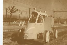 CPM Curiosites Ferroviaires Draisine Legere Inspection Des Voies - Autobus & Pullman