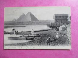 CPA EGYPTE LES PYRAMIDES DE GIZEH ANIMEE - Pyramids
