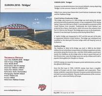 "MALTA  -EUROPA 2018 - PUENTES.- BRIDGES - BRÜCKEN - PONTS"".- FICHA DE LA EMISION - 2018"