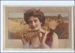 U4797/ Biogravure  NPG Foto AK 1904  Frau Als Teufel  Mit Panflöte  - Ansichtskarten