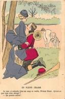 """1 CP Signée SAGER """" En Pleine Chasse"""" Scans Recto-verso.Carte Vierge En Bon état. - Sager, Xavier"""