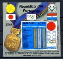 E22385)Olympia 72, Paraguay Bl 192** - Winter 1972: Sapporo